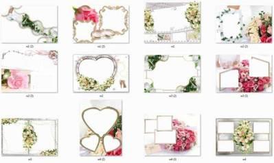 Свадебные рамки для adobe photoshop png